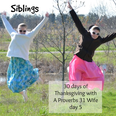 Siblings ~30 Days of Thankfulness day 5