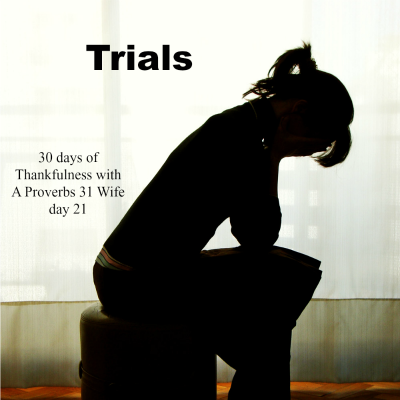 Trials ~30 Days of Thankfulness Day 21