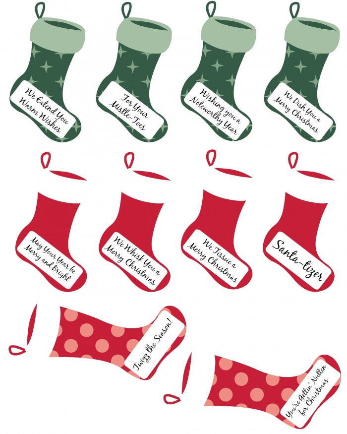 Punny Christmas gift labels to download and print.