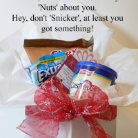 Such a funny Christmas gift to give to neighbors or co-workers! Use puns to make it funny!