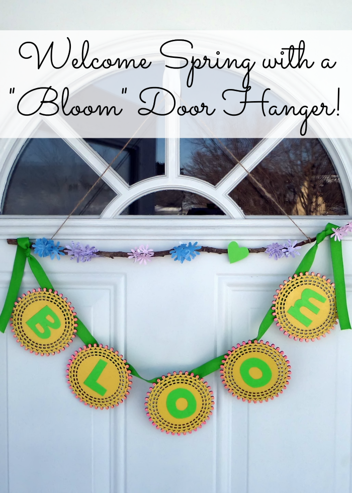 Welcome spring to your home bloom doorhanger welcome spring to your home with this simple doorhanger with spring wood surfaces from michaels malvernweather Image collections