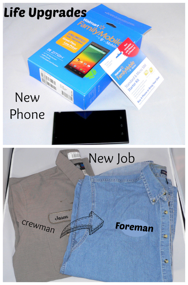 A Life Upgrade. His job, my phone, and Walmart Family Mobile!  - #MaxYourTax #Ad