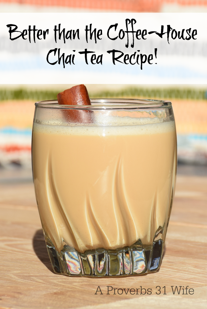 Once you try this better than the coffee-house chai tea recipe, you will never go back to your Starbucks chai. This is the real stuff!