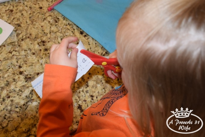 Use scissors to improve fine motor skills