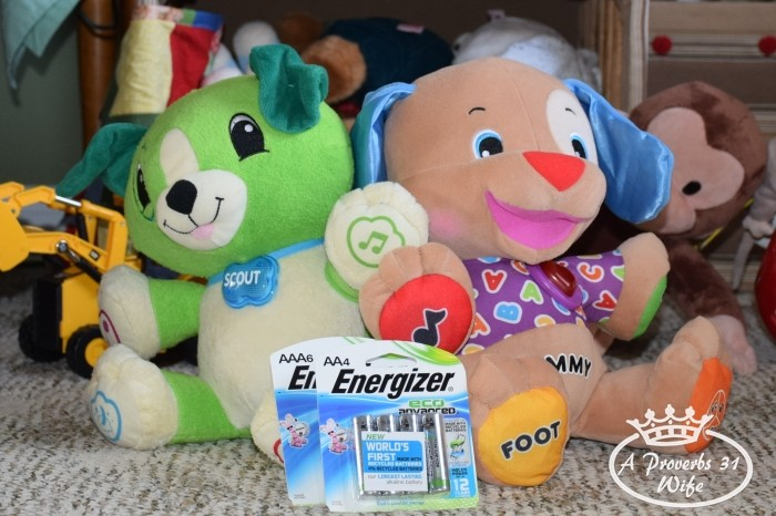 Reducing Baby's Carbon Footprint by using EcoAdvanced batteries for guilt free energy usage in toys. #BringingInnovation #ad