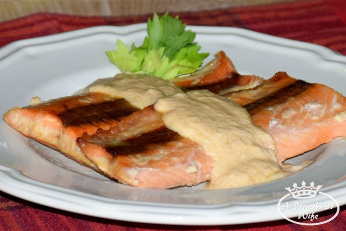 Maple Glazed Salmon with Creamy Ginger Sauce