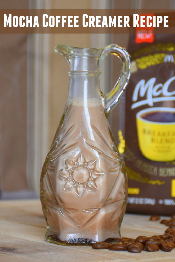 Make your own coffee creamer. Choose from mocha or vanilla #McCafeMyWay #Ad