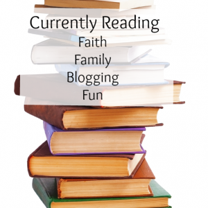 Food for thought. The books I've been reading lately on faith, family and blogging :)