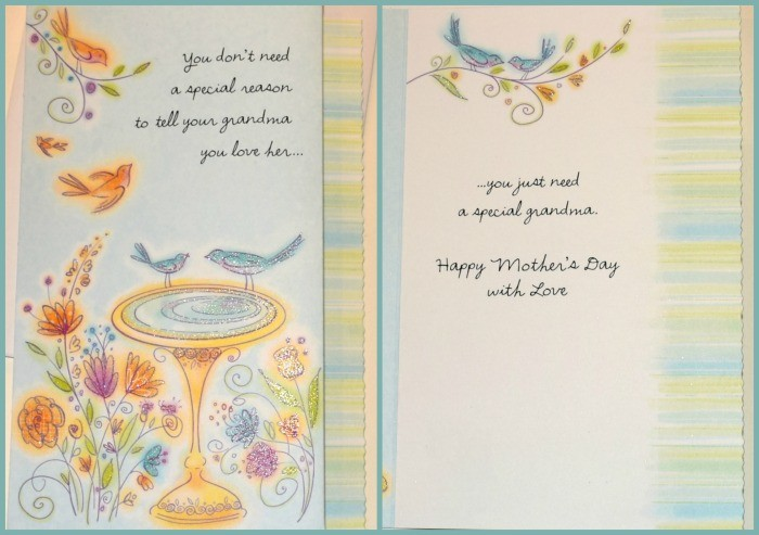 Mother'sday card for grandma. #BestMomsDayEver #ad To grandma from baby Mother's day gifts