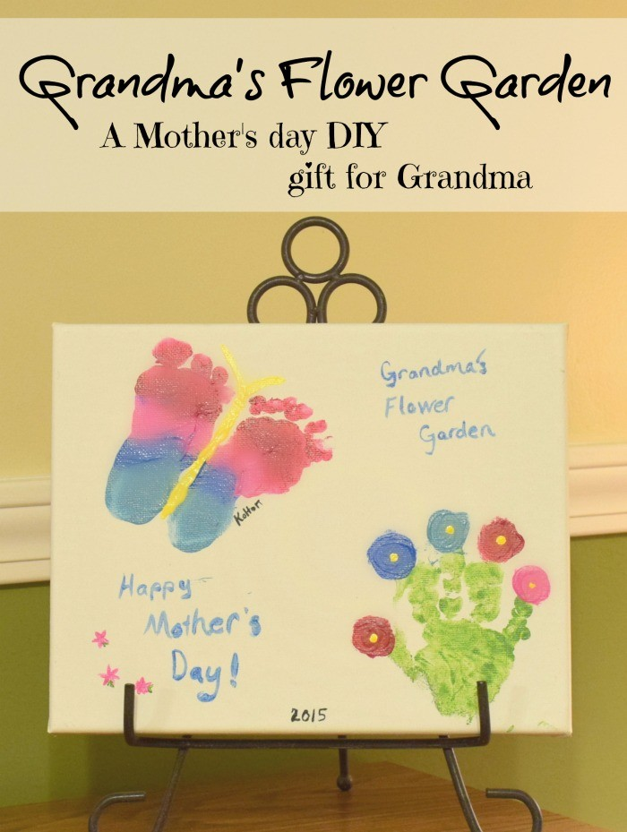 Grandma's Flower Garden. A diy gift for Mother's Day!
