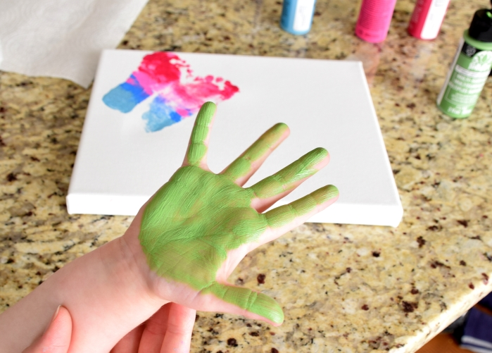 Handprint craft for mother's day.
