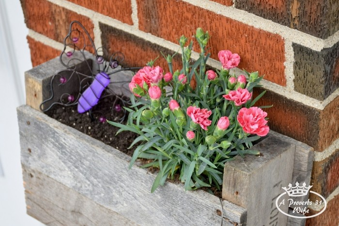 DIY pallet planter for butterflies!