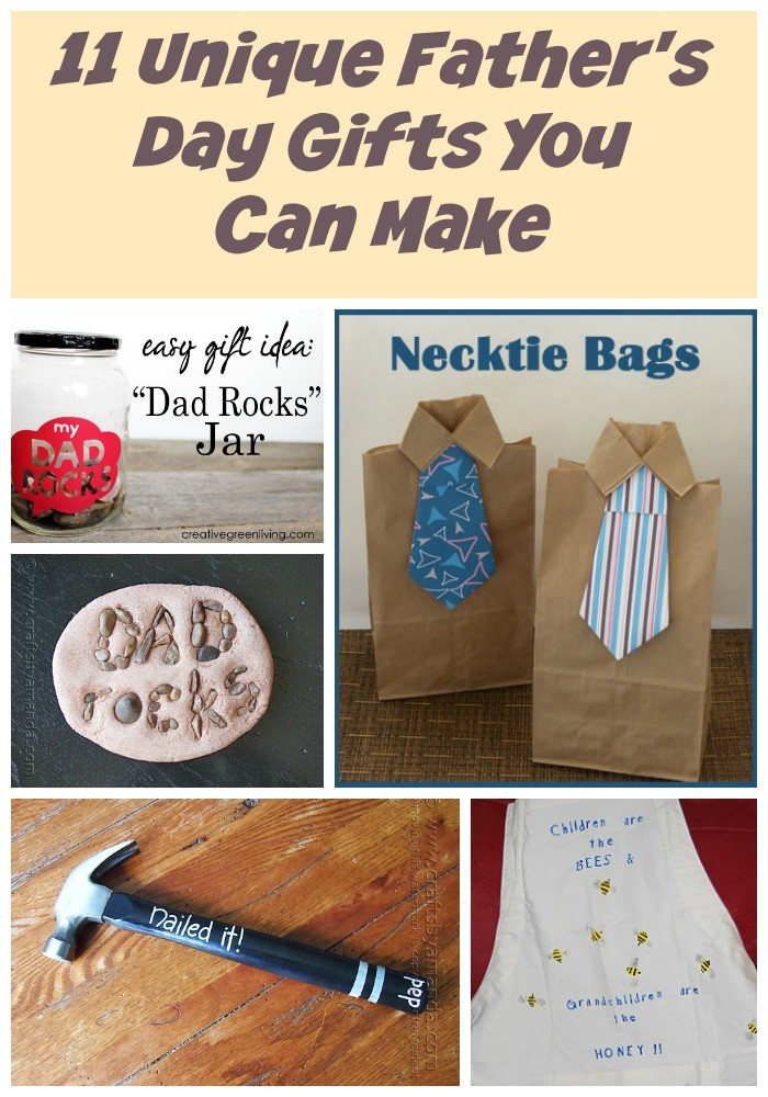 11 Unique Father's Day Gifts You Can Make  -Kids can help too!