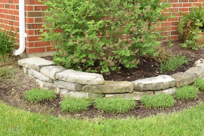Memories of a job done well. Small raised bed with sand stone. #MobileMemories #FamilyMobile #ad