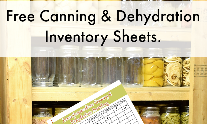 Food Storage Inventory Sheets