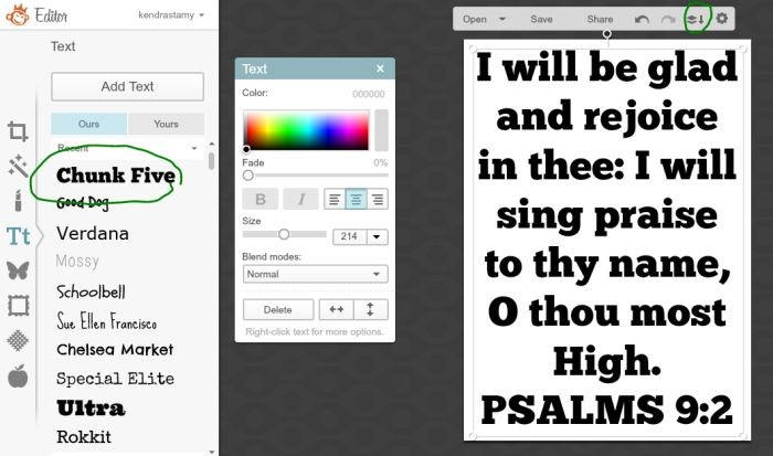 How to make your own printables as a text overlay.