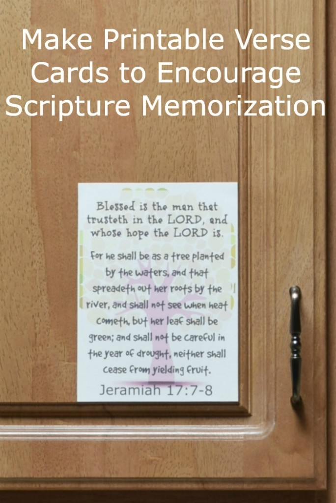 Making printable scripture cards is a great way to help with bible memorization