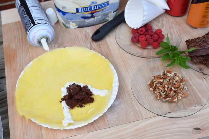 Crepe cone recipe. A delightful summer treat that's fun and easy to make  #SunsOutSpoonsOut #ad