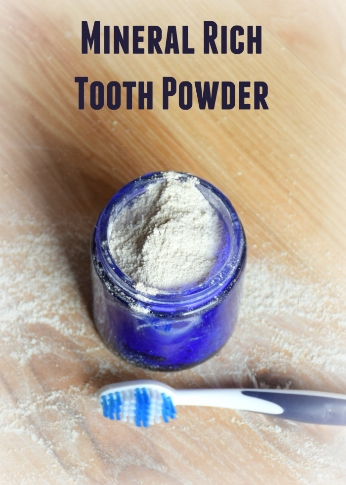 Remineralizing tooth powder recipe to help strengthen your teeth.
