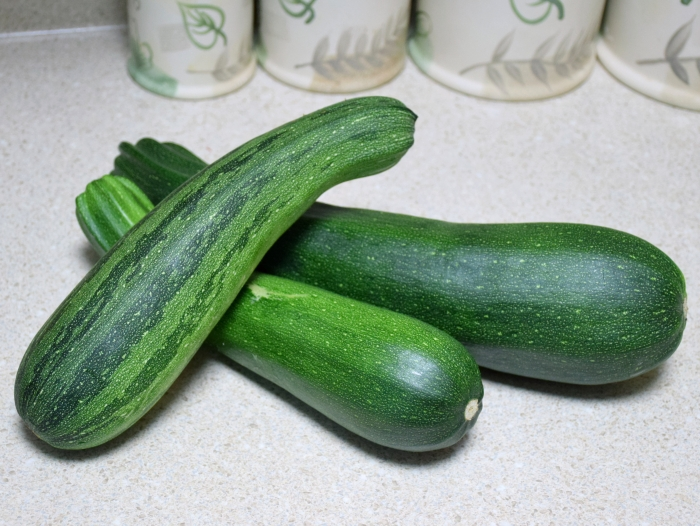 Garden fresh zucchini for my zucchini pie recipe