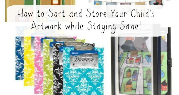 Sort and Display Your Child's Artwork while Staying Sane