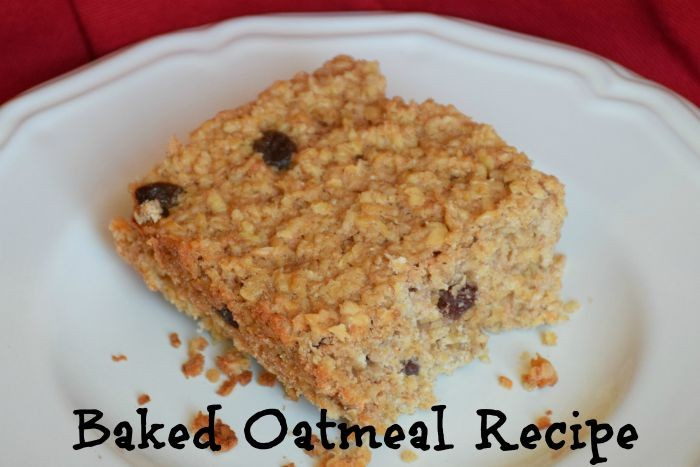 Baked Oatmeal Recipe using Maple Syrup