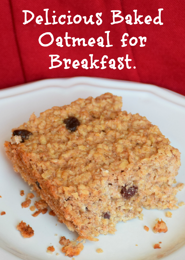 Absolutely delicious baked oatmeal recipe. Sweetened with maple syrup, it's the perfect hearty breakfast for the entire family!
