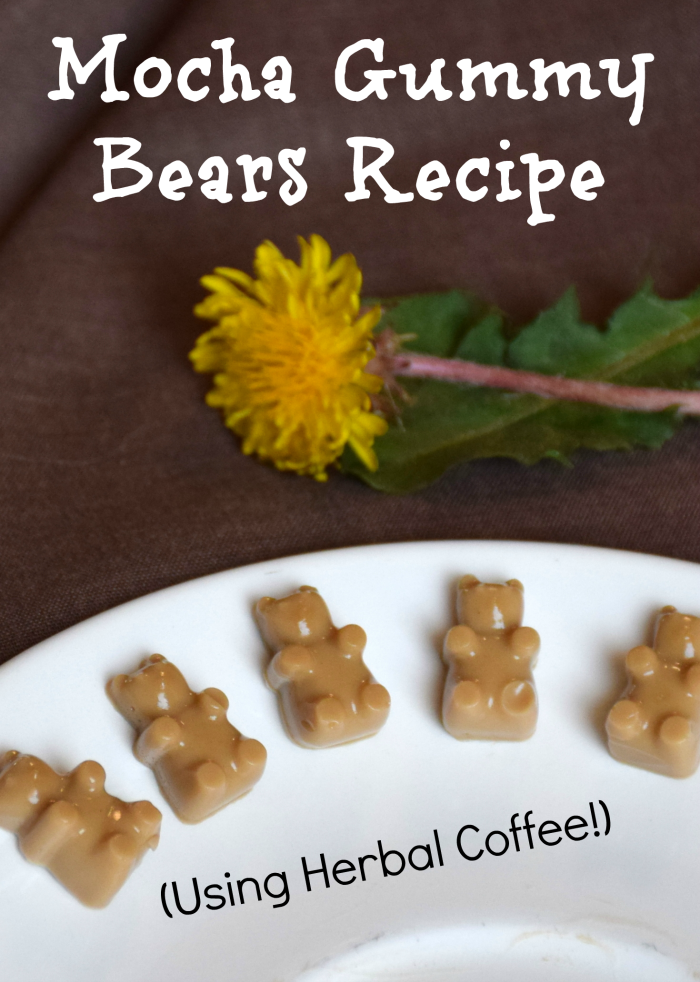 A homemade mocha gummy bears recipe using herbal and regular coffee!