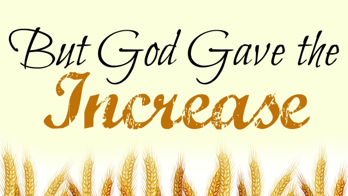 1 plants, another waters, but God gives the increase, free fall, harvest printable for Cultivating a Harvest