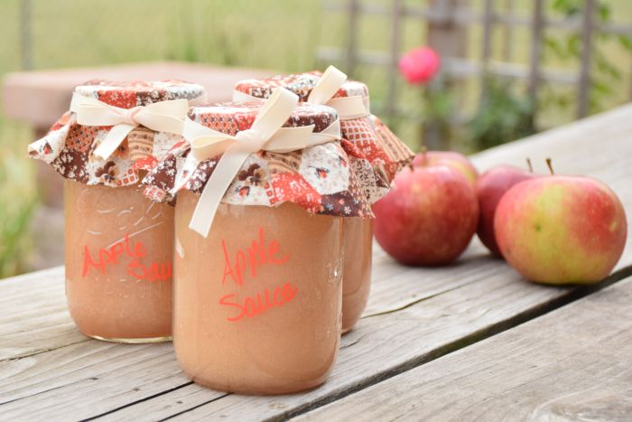 Homemade applesauce and how to can it.