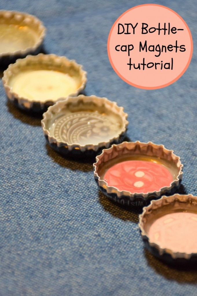 Use recycled bottle caps to make personalized diy magnets that are fun for kids and awesome as diy gift ideas!