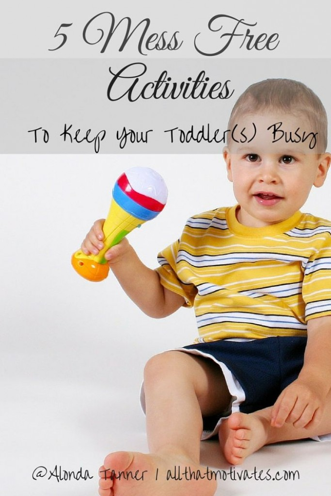 5 fun, mess free toddler activities that your toddler (and you!) will love!