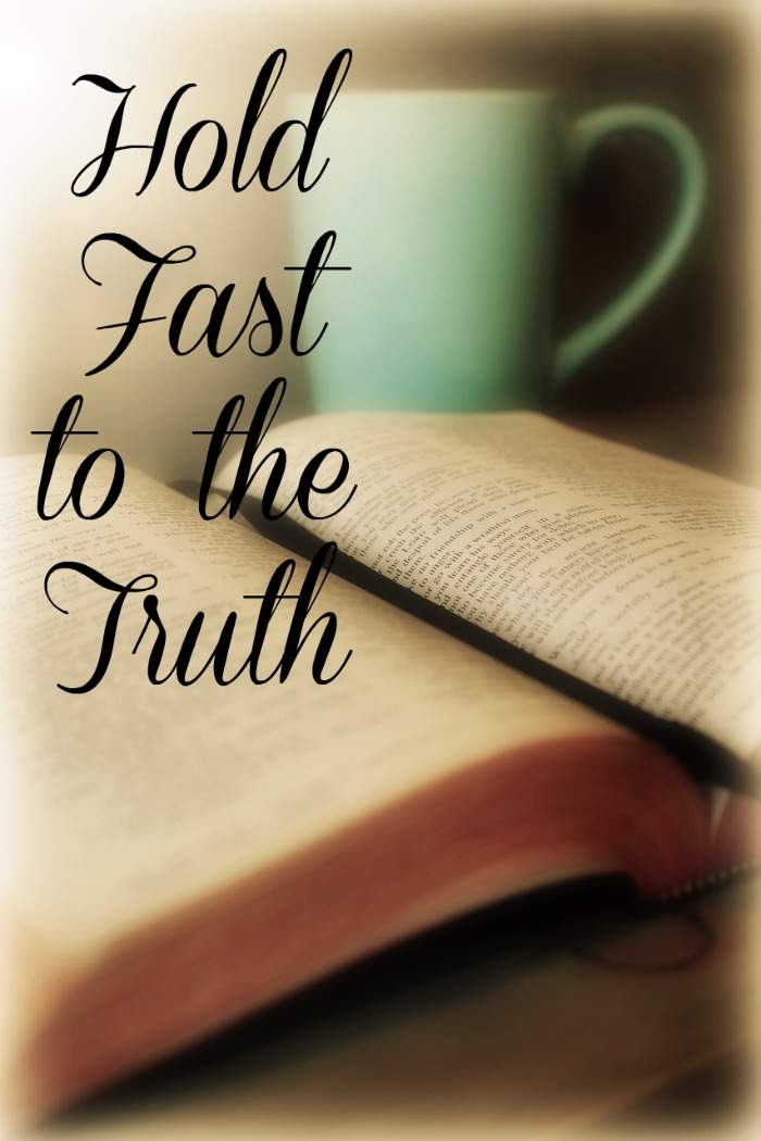 Hold fast to the truth and prove what is good. Looking as bible study for truth and proof.