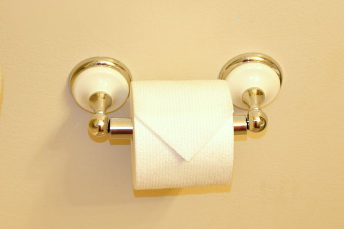 toilet paper savings. Toilet paper on a roll the right way.