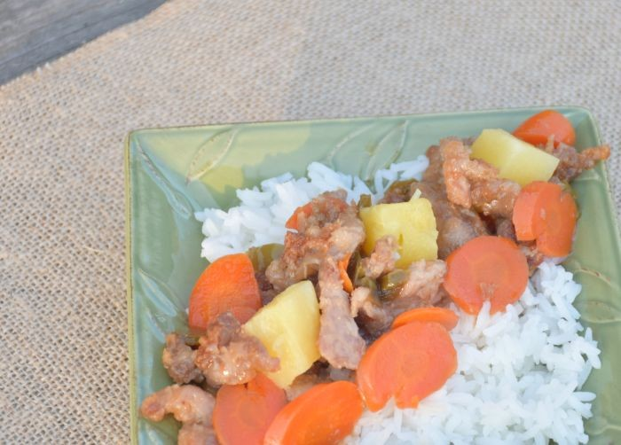 Delight the entire family with this real food version of sweet and sour pork and pineapple recipe!