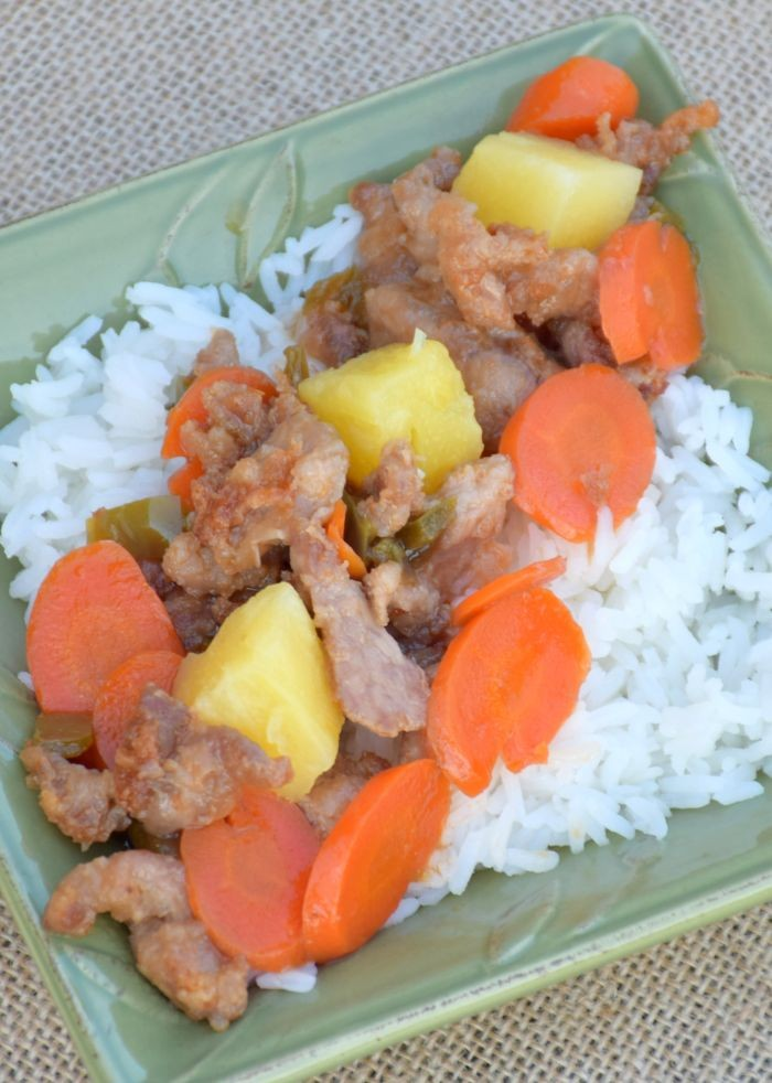 This delicious, sweet and sour pork and pineapple recipe is sure to become a family favorite. Asian food with a healthy flair!
