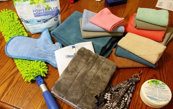 Chemical free cleaning with Norwex microfiber