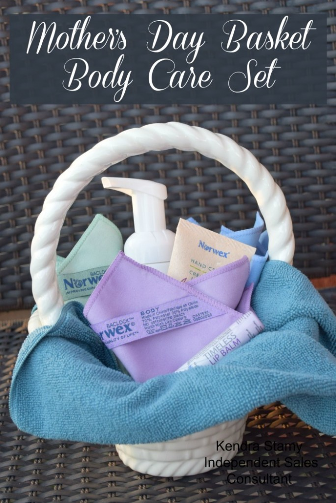 A unique Mother's day gift idea. The body care gift basket for practical moms.