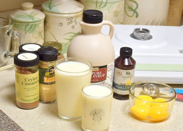 Recipe for homemade eggnog