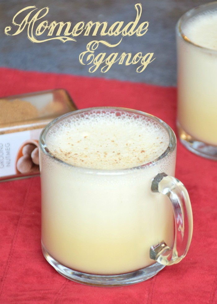 Homemade eggnog recipe. How to make eggnog at home.