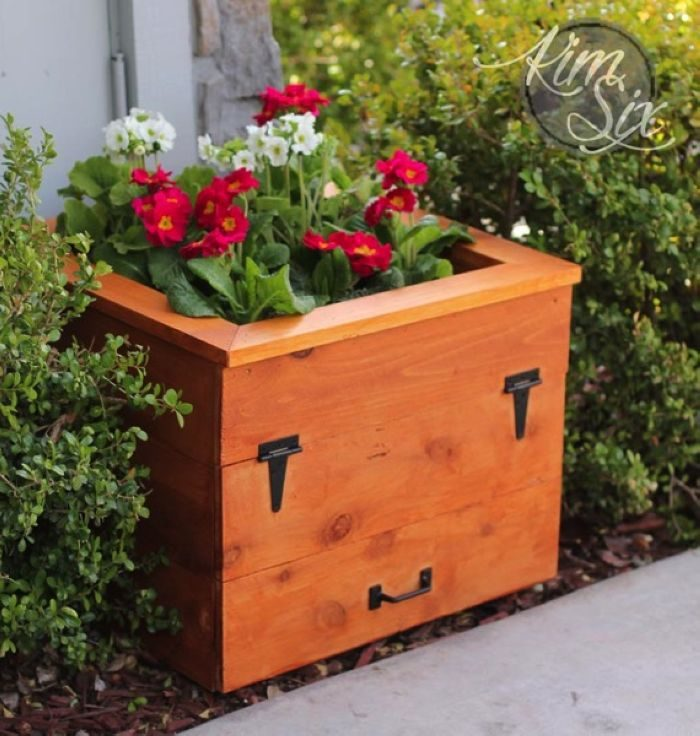 How to make a planter box for hose reel.