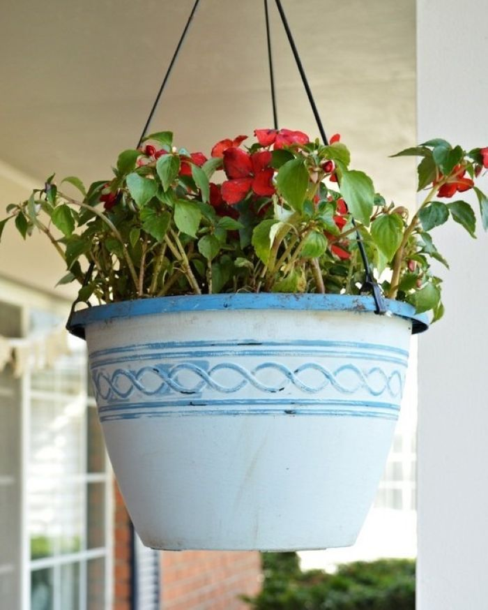 Hanging basket makeover