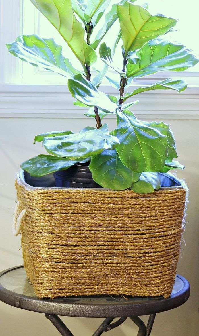 Rope wrapped planter how to