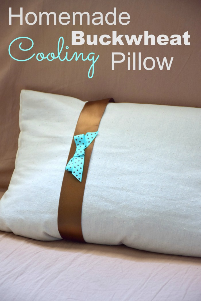 How to make a homemade cooling pillow with Buckwheat.