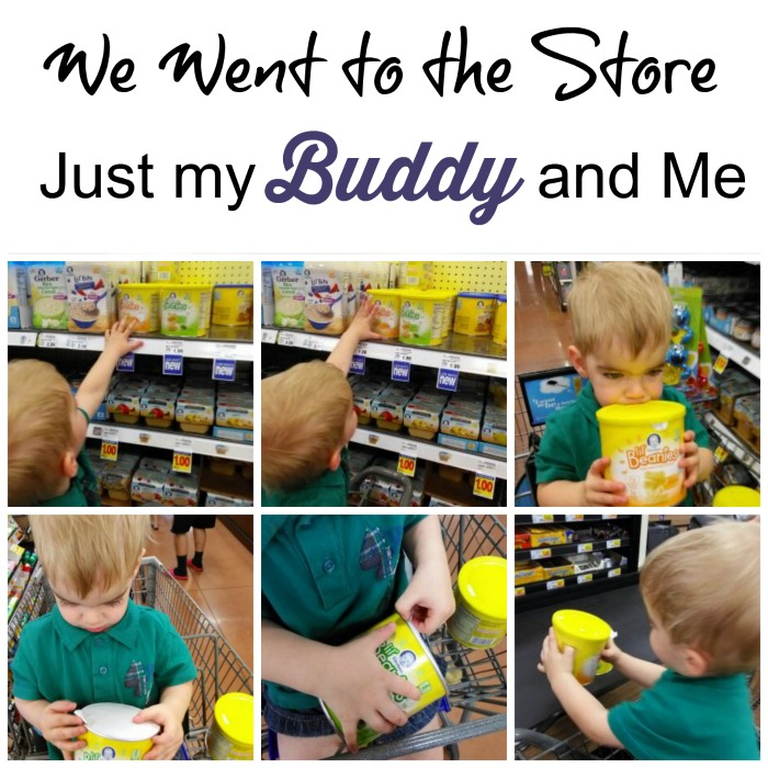 We went to the store, just my buddy and me. Lil' Beanies snacks found at Kroger.