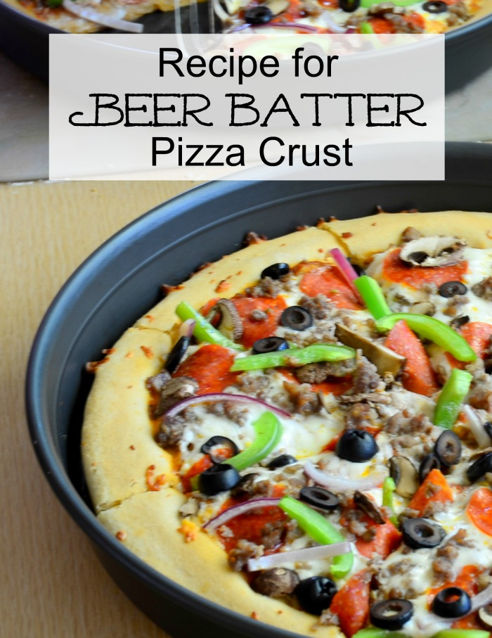 Recipe for beer batter pizza crust. The best crust you will ever eat!