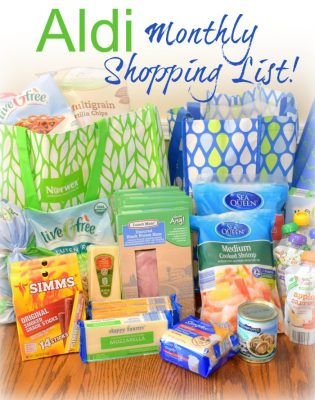 Our monthly shopping list for Aldi and the prices we find them at. Here's how we save by shopping at Aldi!