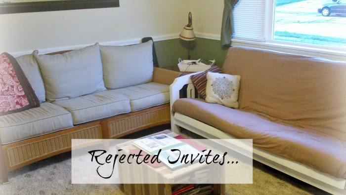 The night no one showed up for my party really made me think about a few things, and ways I may be rejecting invites...