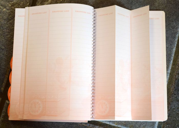 The homemaker's friend daily planner has perforated shopping lists!