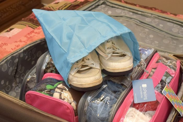 Using EZPacking Cubes, makes making an organized suitcase a total breeze!